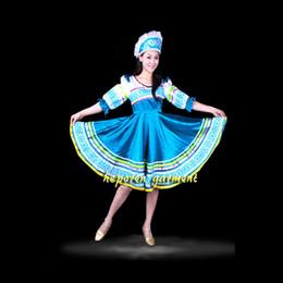 criando roupas para crianças Desconto Alta Qualidade Custom Made Russo Dança Folclórica Traje Vestido Com Cabeça Headwear Para Crianças Adultas, mulheres Rússia Desgaste de Desempenho HF001