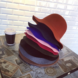Wholesale Korean Fashion For Winter - Autumn and Winter Korean Fashion Ladies Thickened Pure Wool Hat Colorful Hat Wide Eaves Fisherman Hat For Women Multicolor Wholesale