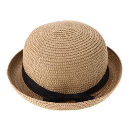 Летние вязаные шапки женские онлайн-Sun Hat для женщин Summer Beach Sun женская шляпа Happy Weekend Picnic Летние шляпы для женщин соломенная вязаная шапочка feminino