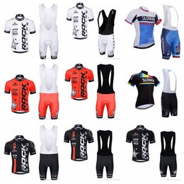 Wholesale Mtb Style - SLOVAKIA ROCK RACING team Cycling Short Sleeves jersey (bib) shorts sets summer Style Bicycle Quick Drying Gel Padded mtb F52106