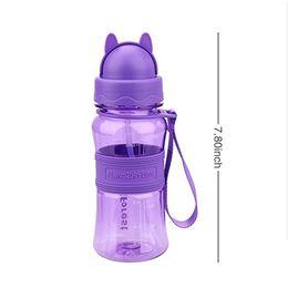 Palhas da escola on-line-Garrafa de água bpa livre 300 ml Crianças Garrafa De Água BPA Livre Tritan Portátil Esporte Shaker Garrafas De Plástico Com Palha Para Crianças Da Escola Crianças