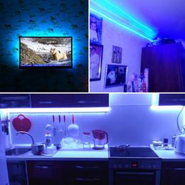 2019 construir panel de luz led Luces de la noche del RGB LED 5 M 5050 SMD 120 LEDs / m DC 12V Luz de tira flexible impermeable IP65 para la TV Pantalla de la PC de escritorio