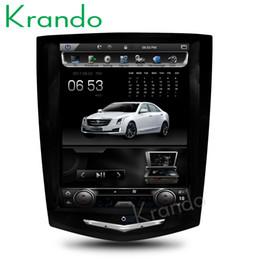 """Telefone android japonês on-line-Krando Android 6.0 10.4 """"Tesla Vertical tela do carro dvd rádio navegação gps para Cadillac ATS XTS CTS SRX jogador do sistema multimídia de rádio"""