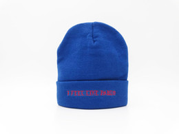 chapéu de feltro azul Desconto 2018 Eu Sinto Como Pablo Beanie Moda Unisex Bordado Gorros Skullies Malha Chapéus Crânio Caps Autêntico Kanye West A Vida De Pablo Azul