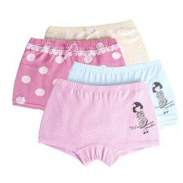 Wholesale cute short pants for girls - 2 Pcs lot Children's Girls Underwear Baby Boxer Underpants for Kids Pants Cute Cartoon Kids Girls Short Panties 4-14T