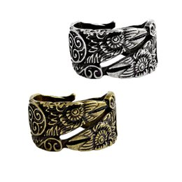 bagues amulette Promotion Bague Vintage or argent antique hommes Bague pour soirée de mariage Norse Mode Amulet animaux Viking Bijoux en gros cadeau