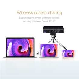 Wholesale portable player wifi - 2018 Android 7.1 Mini Projector 1GB+32GB Portable LCD LED Projectors 5GHz wifi Bluetooth4.0 For Home Theater Cinema Streaming Media Player