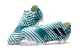 Wholesale li ning shoes - 2018 Soccer Shoes light blue Playboy Nemezizi Football boots Agility football Shoes 17+ TPU FG High Quality Soccer Cleats