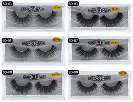 Wholesale Full Thick Hair - Mink 3d Hair Fake Eyelash 100% Thick real mink HAIR false eyelashes natural Extension fake Eyelashes false lashes