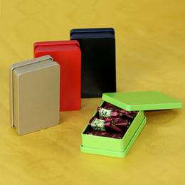 Wholesale Tea Gift Tins Wholesale - 275pcs Rectangle Tin Box Metal Container Tin Boxes Candy Jewelry Tea Coffee Storage Boxes Gift Packaging ZA6960