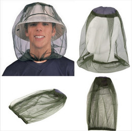 Wholesale Bee Mask - Practical Mosquito Head Net Breathable Anti Bee Pest Control Bite Mask Military Green Night Fishing Hat For Men And Women 3 8bs B