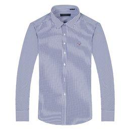 Wholesale big breast size - 2018 100% Cotton Quality Solid Shirt Men Casual big size long sleeve Shirts Oxford Dress Shirt Camisa Masculina