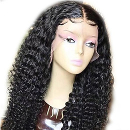 Wholesale Wigs Blonde Short - DHL Fast Shipping Brazilian Human Hair Full Lace Wig Black Long Curly Glueless Lace Front Wigs with Baby Hair Natural Hairline 130% Density