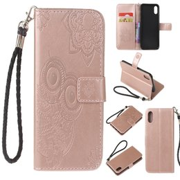 Wholesale Iphone Rope - Wallet Leather Case with Card Slot Flip Stand Braided Rope Defender Case Cover For iPhone X 8 7 6 Plus 5s Samsung S8 Plus Note 8