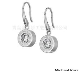 Wholesale Diamond Jewellery Wholesalers - New York Fashion Brand M&K drop earrings Crystal hoop earings brand Jewelry wedding jewellery for women girls Silver Gold Rose