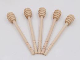 200pcs / lot 8cm 10cm 15cm agitatori di legno miele dipper di legno cucchiaio di miele miele bastone per miele Jar Stick raccogliere da