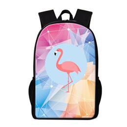 patrones de diseño de mochila Rebajas Diamond Pattern Flamingo School Backpack para estudiantes de primaria Custom Your Own Design Logo Nombre de Schoolbags para niños Bookbag Bagpack Rugtas