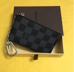 Wholesale designer handbags keys - handbag 4color TOP KEY POUCH Damier canvas holds high quality famous classical designer women key holder coin purse small leer with gift box