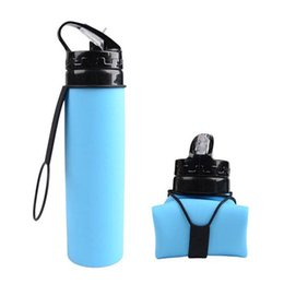 silicone free products Promo Codes - New Outdoor Riding Kettle | Portable Folding Bike Cup Silicone Products Retractable Mountain Bike Glass Free Shipping