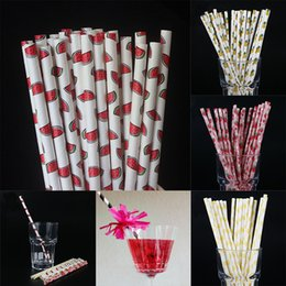 Wholesale wholesale party straws - Disposable Bubble Tea Thick Rainbow Drinking Paper Straws Environment Friendly Kraft Paper Straw For Bar Birthday Wedding Party WX9-695