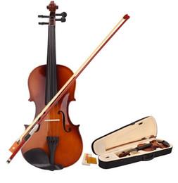 2019 partes de violino usadas Violino do violino acústico do violino do estudante do tamanho de 4/4 com cor do vintage da resina do caso