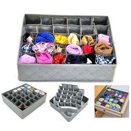 Wholesale Black Closet - 1PC 30 Grids Foldable Underwear Drawer Closet clothing personal clothes Ties Socks Organizers New year Storage box home decor