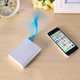 Wholesale Portable Notebook Computer - USB Fan Flexible Portable Mini Fan Low Power Energy USB Toys For Xiaomi Power Bank & Notebook & Computer Summer Gadget