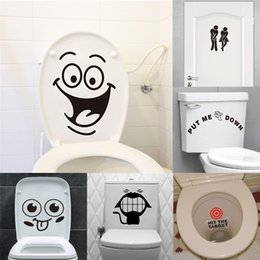 Wholesale Waterproof Toilet - big mouth toilet stickers wall decorations diy vinyl adesivos de paredes home decal mual art waterproof posters paper