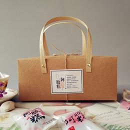 2019 kuchenboxen Leere Kraftpapier Box Mit Griff Kuchen Box Bäckerei Schokolade Paket Geschenkbox Hochzeit Gefälligkeiten Und Geschenken QW7013 günstig kuchenboxen