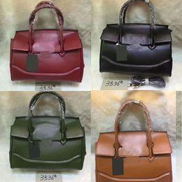 5e7903c298e05 2018 berühmte Designer Frauen Handtaschen Schultertasche Luxus Mode solide  grün rot Schwarz Leder Clutches echtes Leder Taschen günstig grüne ...