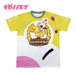 Wholesale Fantasy Appliques - FF15 Moogle Chocobo T-shirt Final Fantasy XV Noctis Lucis Caelum Carnival T-shirt Men Short Sleeve Shirt Casual Top Tees