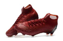 watch f8789 f779b 100% chaussures de football d origine chaussures de football Mercurial  Superfly VI 360 élite Neymar FG football crampons en plein air hommes  femmes vin ...
