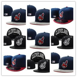 7eb51309088 sell fitted hats Promo Codes - Top Selling Cleveland Indians Fitted Hats  Snapback Cap Men Women