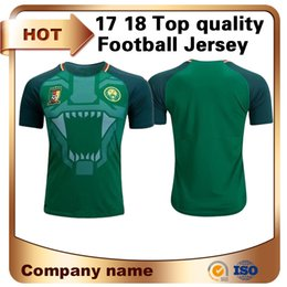 Wholesale National Sport - Quality Thai Edition Cameroon Soccer Jersey 2018 Cameroon Home soccer shirt national team Football sport suit Short sleeved uniforms