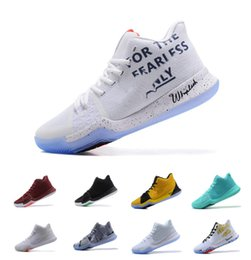 Wholesale Signature White - 2017 New Arrival Kyrie Irving 3 Signature Game Basketball Shoes for Top quality Men's Sports Training Sneakers Size 7-12 Free Shipping