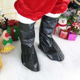 Copertura del babbo natale online-Santa Claus Boot Covers uomo donna Natale Fancy Dress Costume cospaly Babbo Natale Shoe Cover Decorazione di Natale LJJK1069