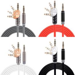 2019 câble pour la maison Aux Cord 3.5mm Audio Câble Mâle à Mâle Stéréo Aux Câble 360 Degrés Rotation 5Ft 1.5 M Cordon Auxiliaire pour iphone samsung mp3 Voiture Haut-Parleur câble pour la maison pas cher