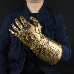 Wholesale Avengers Cosplay - 2018 Movie Avengers 3 Infinity War Thanos Cosplay Infinity Glove Latex Hands Gauntlet Movable Fingers Props Halloween Party
