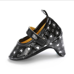 Свадебные туфли детские девочки онлайн-New Fashion Pudcoco Baby Toddler Girls High Heels Shoes Wedding Formal Princess Pageant Dots Print 3D Floral Leather Party Shoes