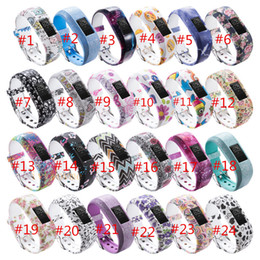 Wholesale Silicon Pattern - 24COLORS Replacement Wrist Band For Garmin vivofit JR JR2 Watch pattern Silicon Strap Clasp For Garmin vivofit JR Watches watch band