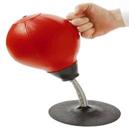 Canada Soulagement du stress Table-wall Pugilism Ball Sac de boxe de bureau Vertical Ball Vent de décompression Décompression Bureau Jouets Outils de formation Offre