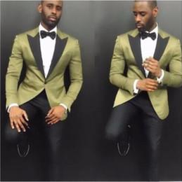 92185925bf5 Latest Coat Pant Designs 2018 Groom Suit Dark Green Tuxedos Mens Suit Best Man  Slim Fit Wedding Suits For Men (Jacket+Pants+Tie)