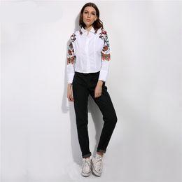 Wholesale classic pants for women - Style Classic Women High Waist Denim Jeans Vintage Slim Mom Style Pencil Jeans High Quality Denim Pants for 4 Season
