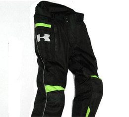 Wholesale cycling trousers winter - Kawasak Motorcycle winter cycling trousers windproof cross - proof rider long trousers and thick thermal motorcycle pull pants.