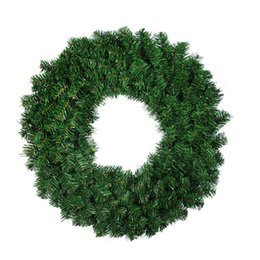 needle tree Promo Codes - 40CM Christmas Wreath Front Door Hang Garland with Pine Needles for Party Decoration