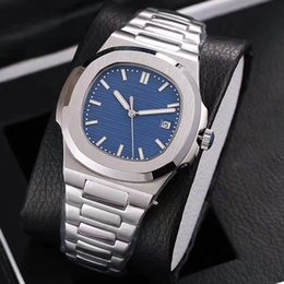 Wholesale Oval Watches - High Quality Sapphire Glass 316L Stainless Steel Nautilus Mechanical Luxury Brand Watch for men