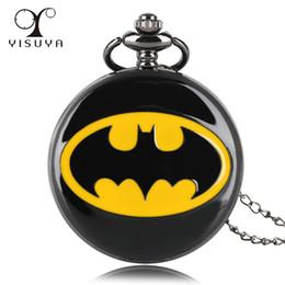 Canada Nouvelle arrivée Batman Alloy Pocket Watch Full Hunter collier chaîne pour hommes Quartz Anal Cool Fashion cadeau pour les fans de super-héros Offre