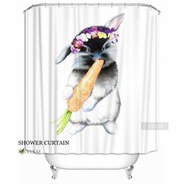 Canada Vixm Home astucieux petit lapin Tissu Rideau de douche lapin mignon Personnalisé Rideau de bain pour salle de bain avec crochets Anneau 72