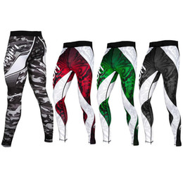 Wholesale Women Camo Pants Skinny - Mens Compression jogger Pants Fast Dry Base Layer Fitness Leggings Trousers Tights pantalones hombre Camo Casual Trousers