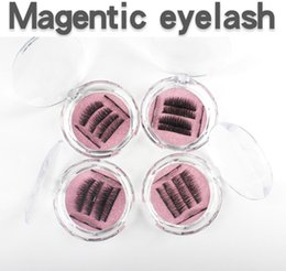 Wholesale Magnetic Weight - 2018 Mink Magnetic Eyelashes New Design 3D Design 3Pcs Tiny Light Weight Magnets Full Lash Strip False Lash Extension pure handmade lashes